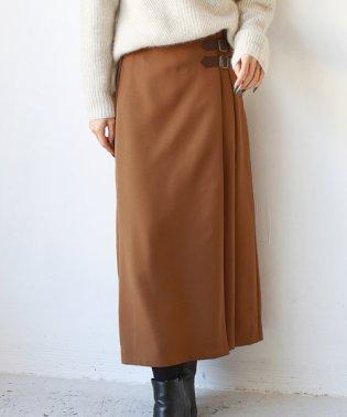 デザインベルトフレアスカート