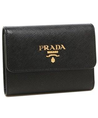 プラダ 財布 PRADA 1MH025 QWA F0002 SAFFIANO METAL ORO サフィアーノ ミニ財布 レディース 三つ折り財布 無地 NER