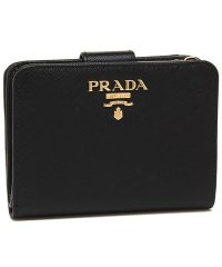 プラダ 財布 PRADA 1ML018 QWA F0002 SAFFIANO レディース 二つ折り財布 無地 NERO 黒