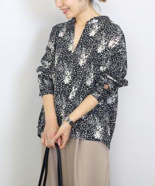 花柄デシンスキッパーシャツ