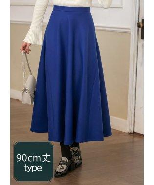 90cm丈フェルトタッチフレアスカート