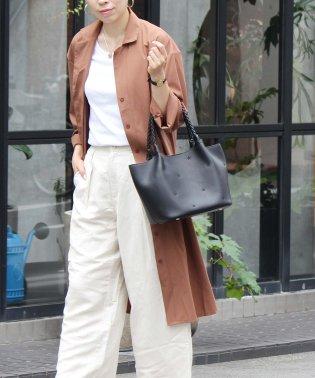 刺繍メッシュハンドルトートバッグ