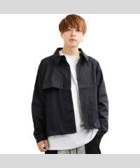 トップス ショート丈 アウター メンズ レディース 韓国 ファッション ドリズラー  黒 韓国ファッション ペアルック カップル お揃い 服 ジャケット