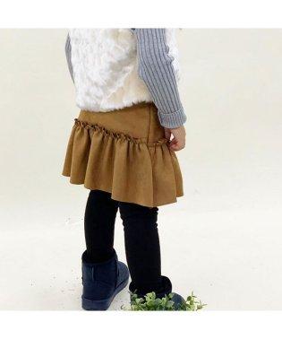 フェイクスウェードスカート付レギンス