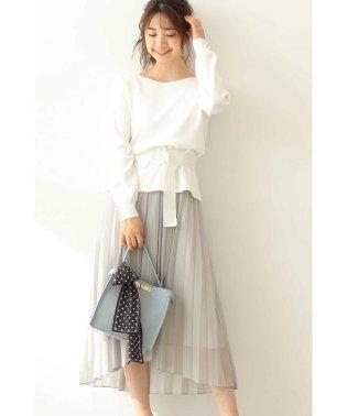 ◆ラップシフォンプリーツスカート