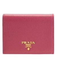 プラダ PRADA 財布 折財布 二つ折り レザー 1MV204 アウトレット