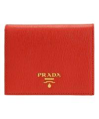 プラダ PRADA 財布 折財布 二つ折り ミニ コンパクト レザー 1MV204