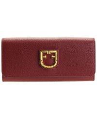 フルラ FURLA 財布 長財布 二つ折り ベルヴェデーレ BELVEDERE XL BI-FOLD レザー チェリーレッド