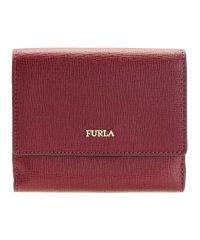 フルラ FURLA 財布 折財布 二つ折り BABYLON S バビロン レザー ブランド チェリーレッド