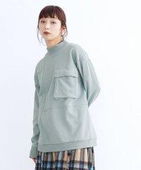【TVドラマ着用】フラップポケット切り替えスウェットトップス