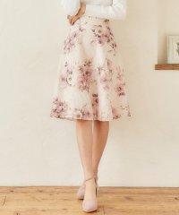 ジャガードレース花柄スカート
