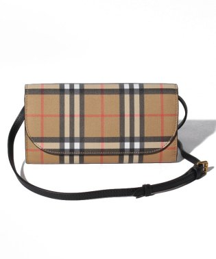 【BURBERRY】Henley Vintage Check Wallet On Chain