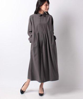 【MidiUmi】shirt collar waist tucked OP