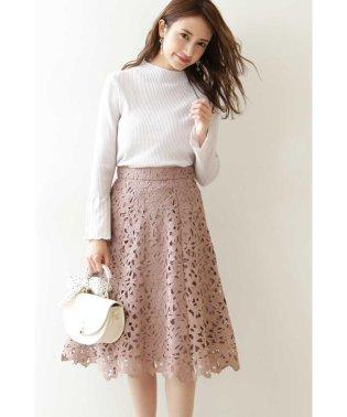 ◆ケミカルレースフレアスカート
