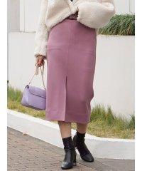 ポンチスリットタイトスカート