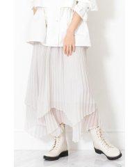 ◆ダブルプリーツイレヘムスカート