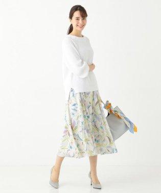 【洗える】チューリッププリント スカート