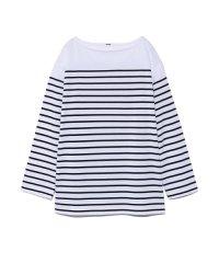 ビッグシルエットボーダ-Tシャツ