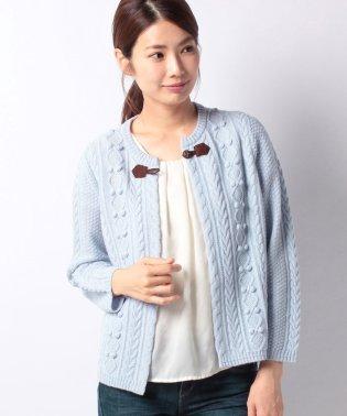 【特別提供品】ケーブル編みのニットジャケット