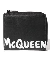 【ALEXANDER McQUEEN】カード コインケース/MCQEENグラフティ【BLACK/WHITE】