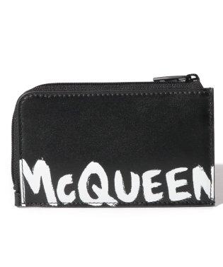 【ALEXANDER McQUEEN】フラグメントケース/MCQEENグラフティ【BLACK/WHITE】
