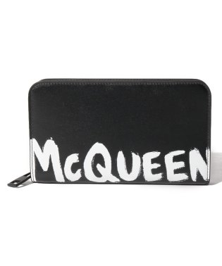 【ALEXANDER McQUEEN】長財布/MCQEENグラフティ【BLACK/WHITE】