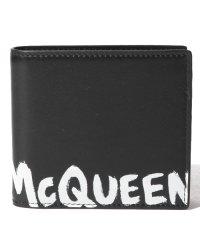 【ALEXANDER McQUEEN】2つ折り財布/MCQEENグラフティ【BLACK/WHITE】