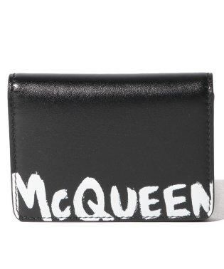 【ALEXANDER McQUEEN】カードケース/MCQEENグラフティ【BLACK/WHITE】
