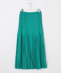 シャンブレーツイルプリーツスカート