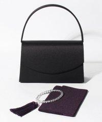 【喪服・礼服用】ブラックフォーマル雑貨・3点セット/バッグ・念珠・ふくさ