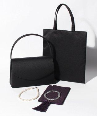 【喪服・礼服用】ブラックフォーマル雑貨・5点セット/バッグ・念珠・ふくさ・ネックレス・サブバッグ