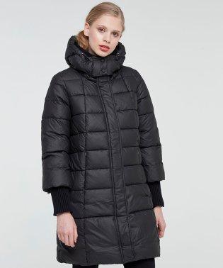 フード付き中綿ロングコート