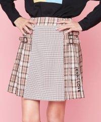 Wチェックプリーツスカート
