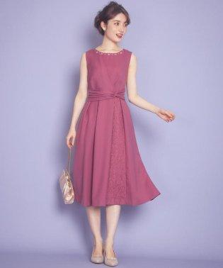 レースアクセントミディ ドレス