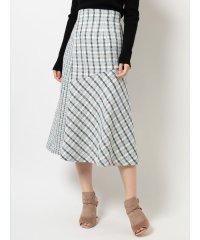 ツィードブロッキングスカート