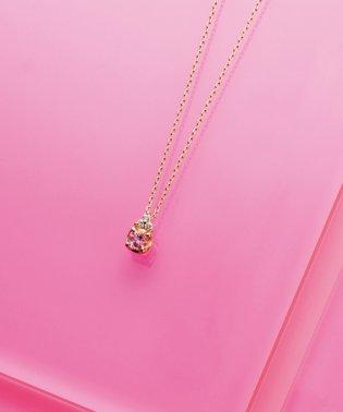 【数量限定品】K18イエローゴールド ピンクトルマリン ダイヤモンド ネックレス