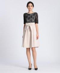 《Maglie Black》レースドッキングドレス