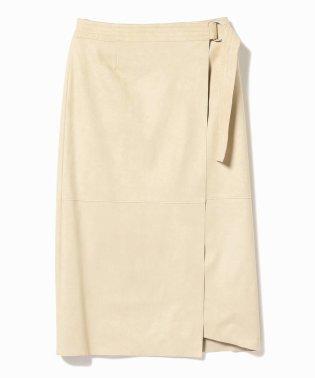 Demi-Luxe BEAMS / エコスエード ラップスカート