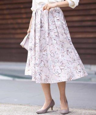 フラワープリントタックギャザースカート