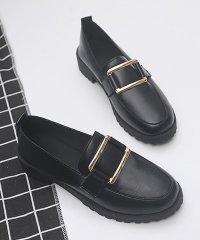 チャンキーヒール パンプス ローファー レディース 靴 学生 痛くない 歩きやすい ローヒール パンプス 黒