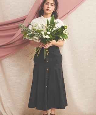 【non-no3月号掲載】フレア切替デニムスカート