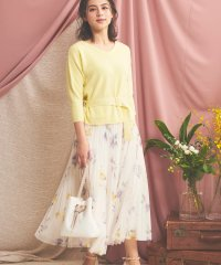 【Ray3月号掲載】チュールプリントスカート