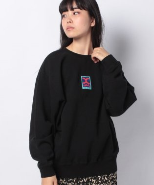 RECTANGLE LOGO CREW SWEAT TOP