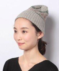 【Samansa Mos2/サマンサ モスモス】ジャガード柄ニット帽