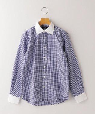 SHIPS KIDS:ギンガム クレリック レギュラーカラー シャツ(145~160cm)【OCCASION COLLECTION】