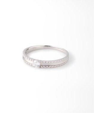 《WEB限定》PT 0.1ct ダイヤモンド マットリング H&C