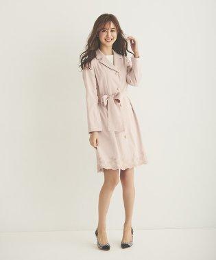 裾刺繍ドレストレンチコート