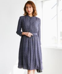 【洗える】ツイーディープリント ドレス