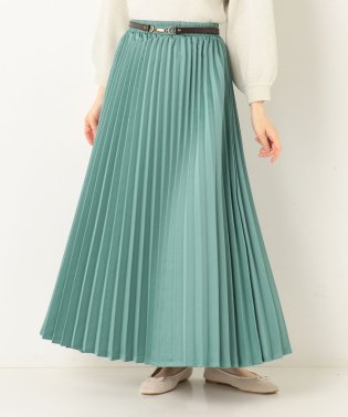 A-サテンプリーツロングスカート