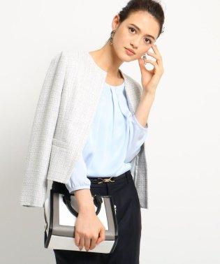 [L]【ママスーツ/入学式 スーツ/卒業式 スーツ】ネオブライトツイードジャケット